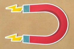Magnet horseshoe magnetic icon