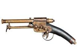 Old vintage gun isolated